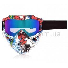 Очки кроссовые + защитная маска Beon