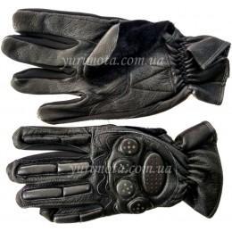 Мотоперчатки кожаные с защитой