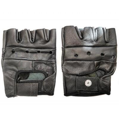 Мотоперчатки кожаные без пальцев