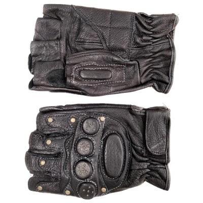 Мотоперчатки кожаные с защитой открытые