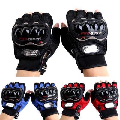 Перчатки с защитой PRO BIKER без пальцев