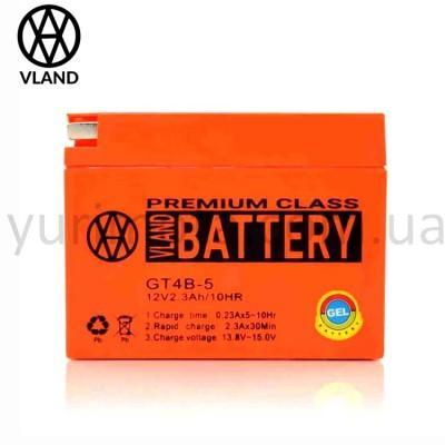 Аккумулятор 2.3A таблетка GT4B-5 (Suzuki/Yamaha) VLAND