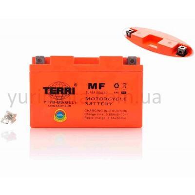 Аккумулятор 7А YT7B-BS гелевый Terri (узкий)