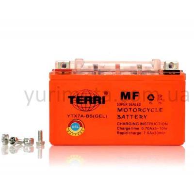 Аккумулятор 7А YTX7A-BS гелевый Terri