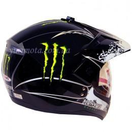 Шлем кроссовый ATAKI FF103 Monster с очками и визором