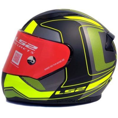 Шлем LS2 FF353 RAPID CARRERA BLACK HI-VIS YELLOW