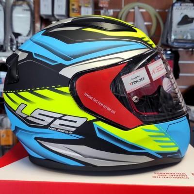 Шлем LS2 FF353 Rapid Gale Matt Black Blue Yellow