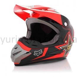 Шлем кроссовый Fox #125 Black Red