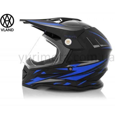 Шлем кроссовый Vland #819-7 Black/Blue