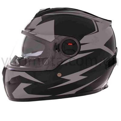 Шлем Vland M61/1 (интеграл) Black/Grey