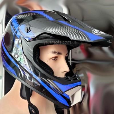 Шлем кроссовый Virtue (синий)