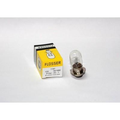Лампа фары FLOSSER 1181 12V 18/18W