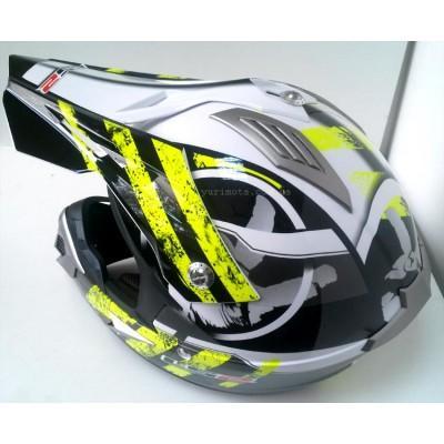 Шлем кроссовый LS2 MX433 STRIPE, BLACK HI-VIS YELLOW