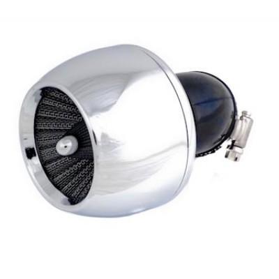 Фильтр нулевого сопротивления KOSO Turbo Хром 90 град.